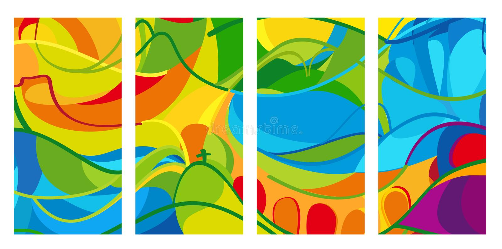 Rio Olympic and Paralympic Games. Rio Olympic Games set of patterns. Rio summer background. Brazil Colorful pattern. Set of summer colorful pattern with stock illustration