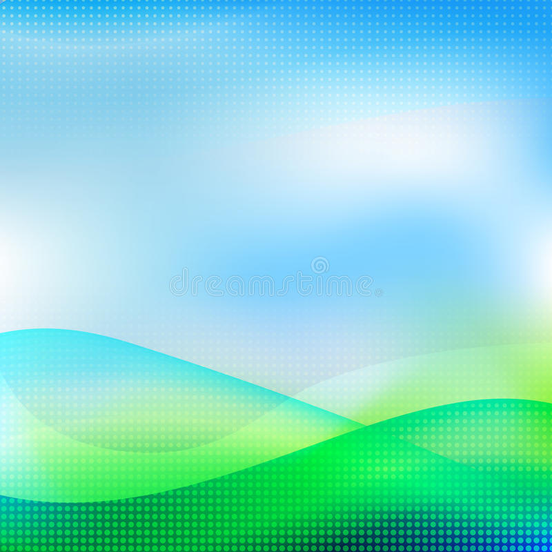 Abstract summer background. Vector illustration /EPS10. Abstract summer background. Background with the effect of the sun, spring, rebirth. Ecological background stock illustration
