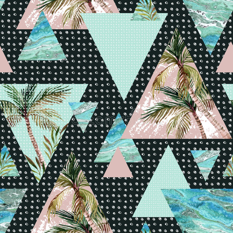 Free Abstract Summer Geometric Seamless Pattern Stock Photos - 72285003