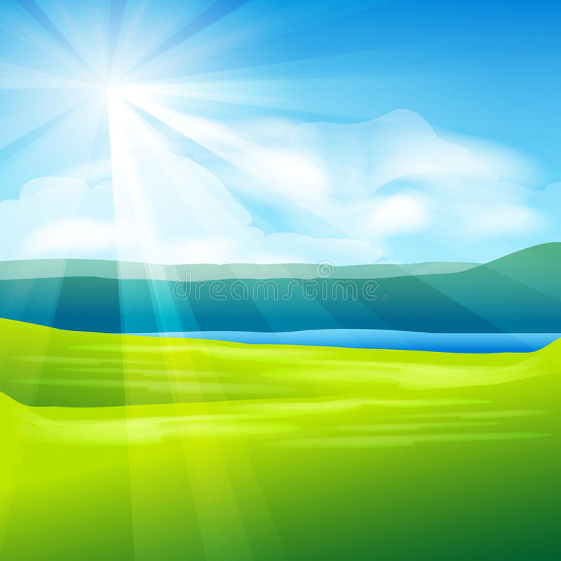 Abstract summer landscape background royalty free illustration