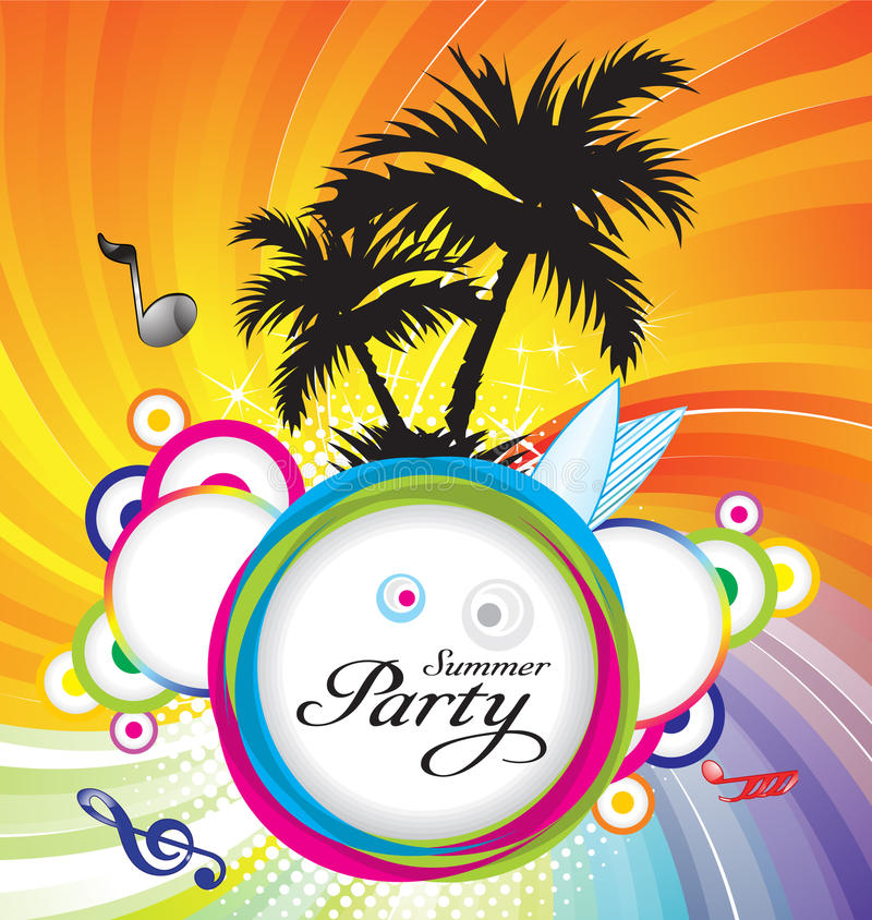 Download Abstract Summer Party Background Stock Vector - Image: 20604572