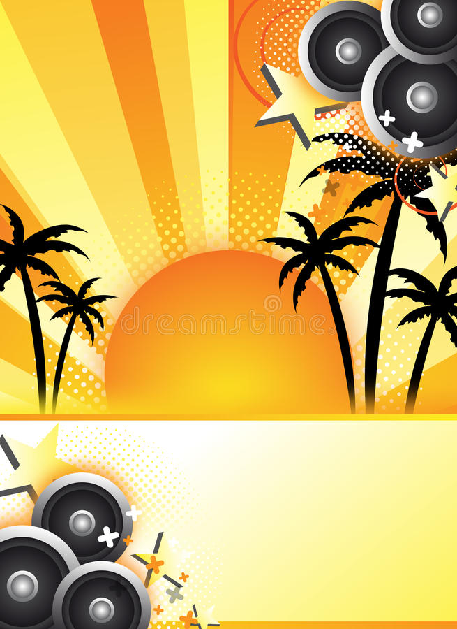 Abstract summer party design stock illustration