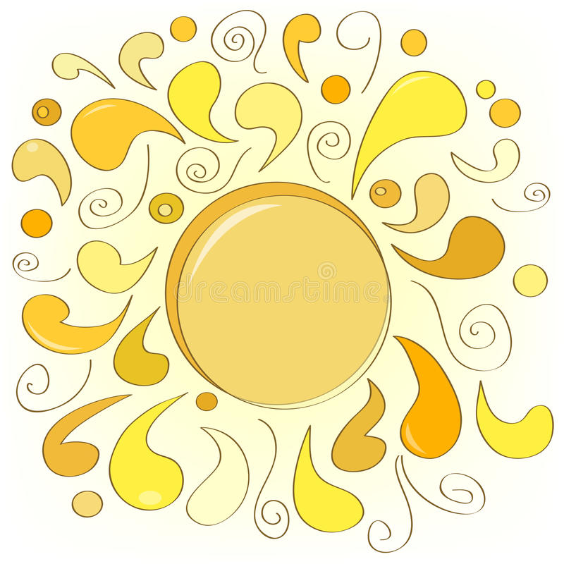 Download Abstract sun stock vector. Illustration of swirls, background - 22944572