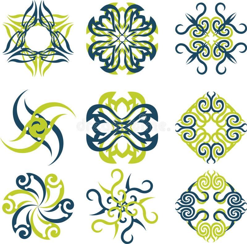 Abstract sun logo royalty free illustration