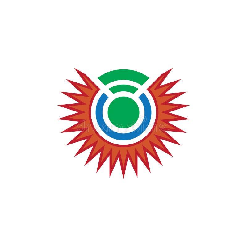 Abstract sun network logo Design royalty free stock photo