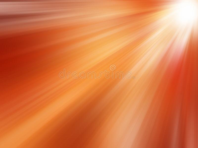 Abstract Sunbeams: Orange summer rays background royalty free illustration