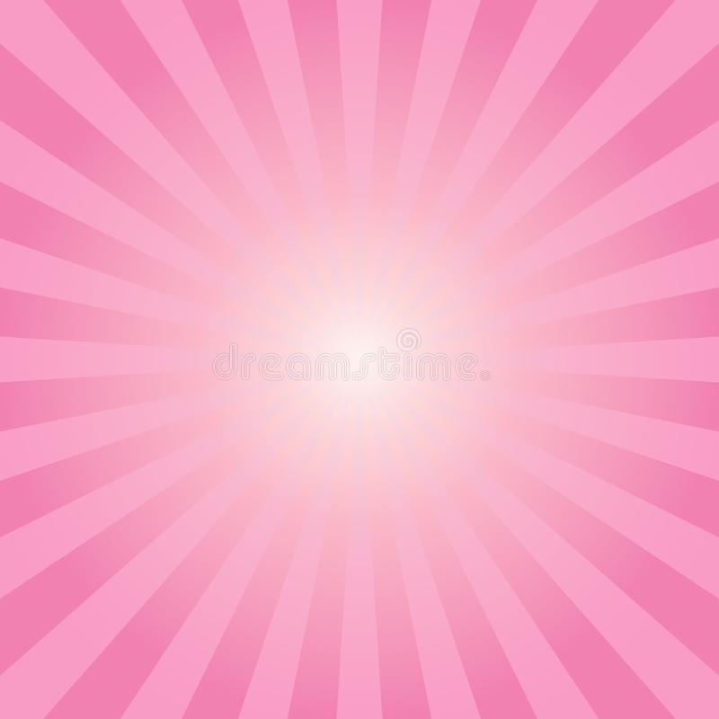 Abstract sunbeams pink rays background vector illustration