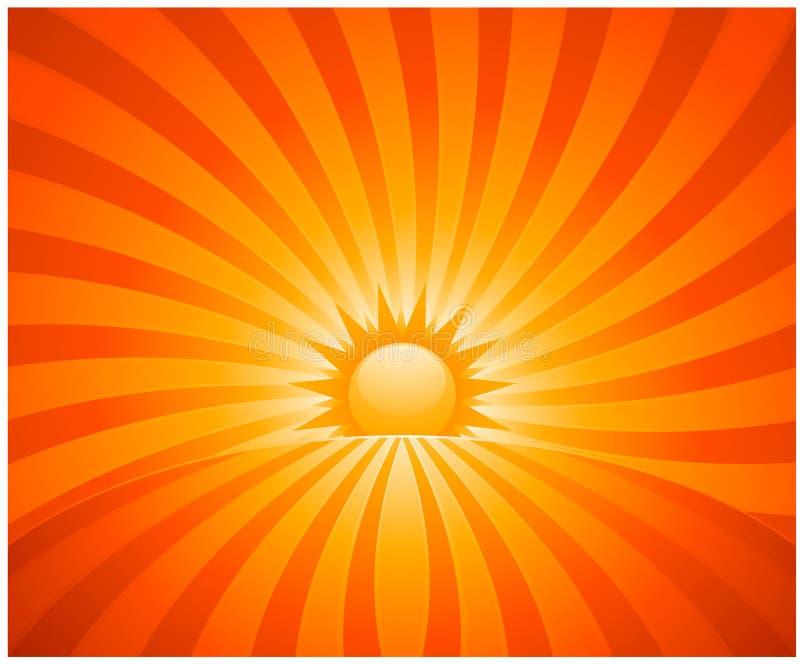 Abstract sunburst vector illustration