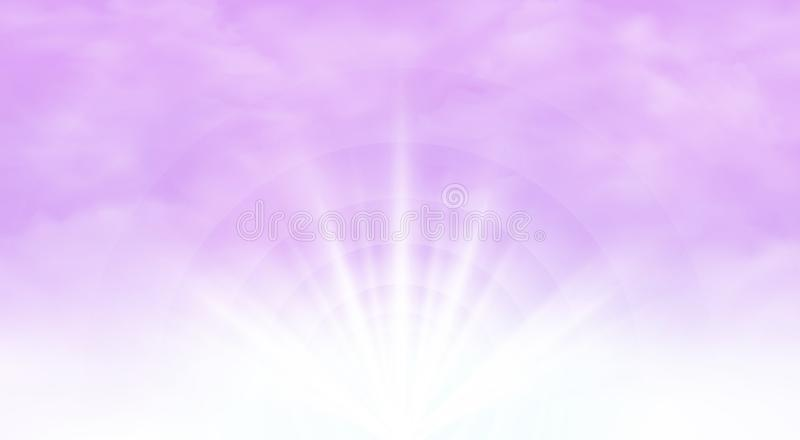 Abstract of sunburst with clear pink sky background. royalty free illustration