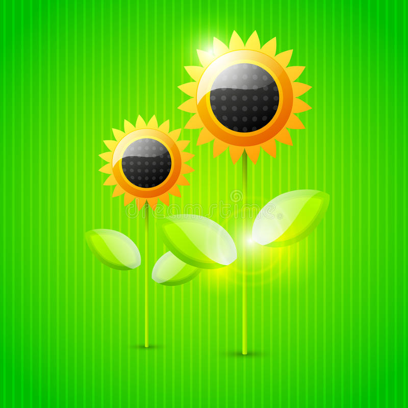 Download Abstract Sunflower Background Stock Vector - Image: 25392554