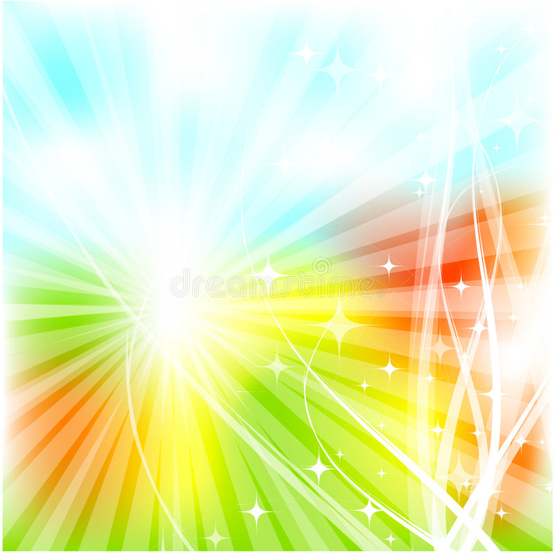 Abstract sunny blurred background vector illustration