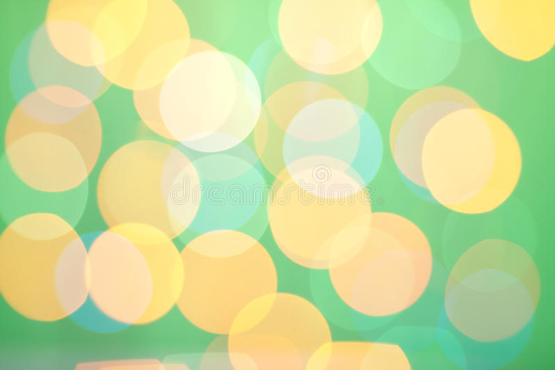 Abstract Sunny Bokeh On Green Royalty Free Stock Photo