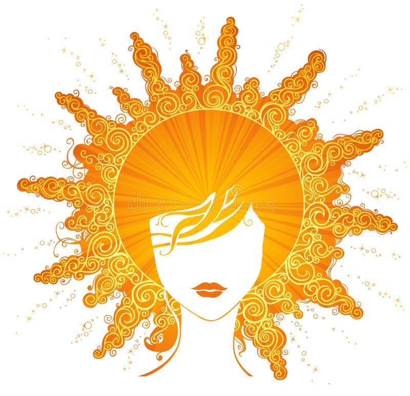 Free Abstract Sunny Woman. Stock Photos - 53297643