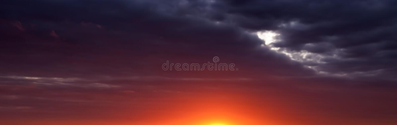 Download Abstract Sunrise Sunset Banner Panoramic Panorama Royalty Free Stock Image - Image: 14813796