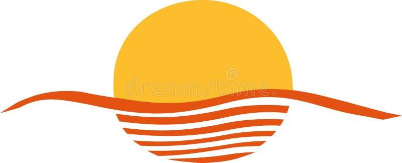 Abstract sunset ocean. Light vector vector illustration