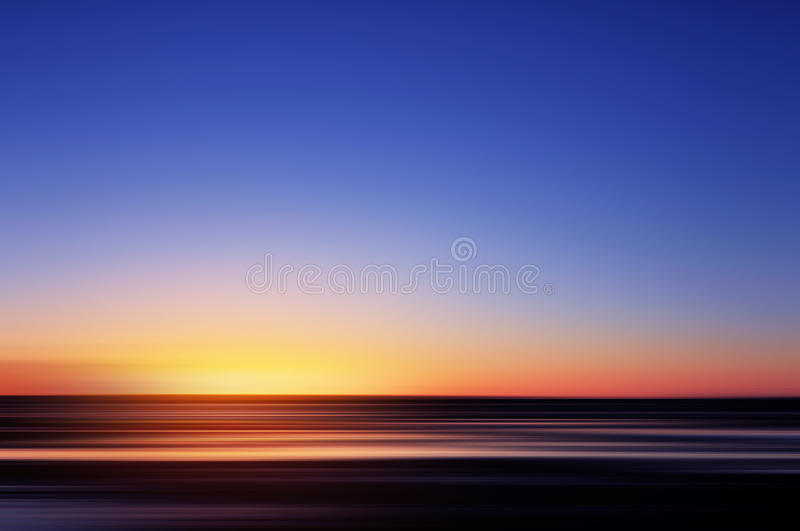 Abstract sunset on the ocean royalty free stock photos