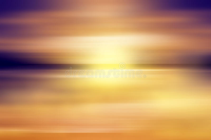 Abstract sunset over ocean vector illustration
