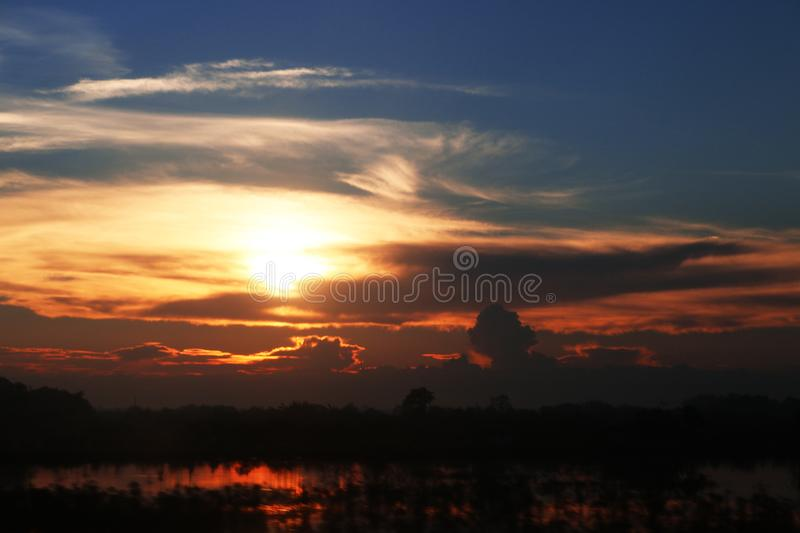 Abstract Sunset in Sapa, Vietnam stock photography