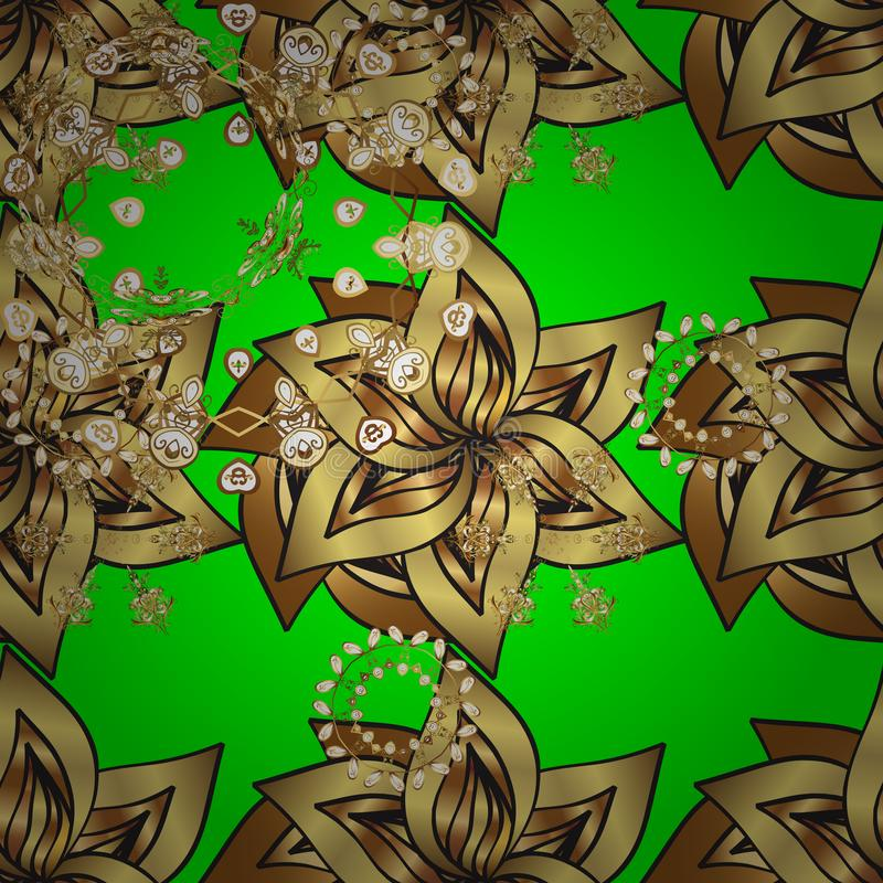 Oriental style arabesques stock illustration