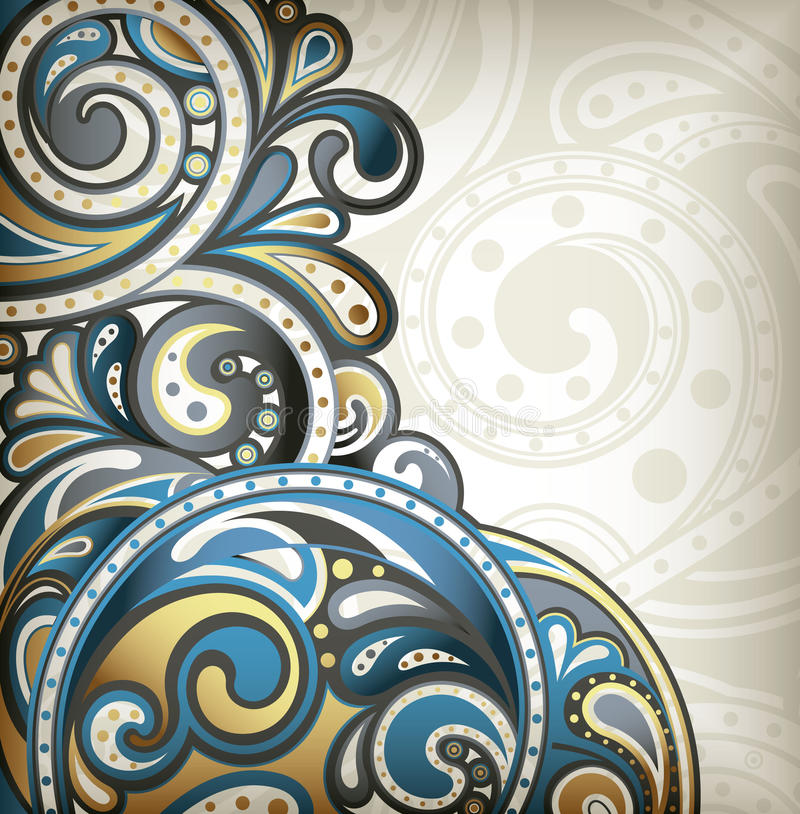 Abstract Surf royalty free illustration