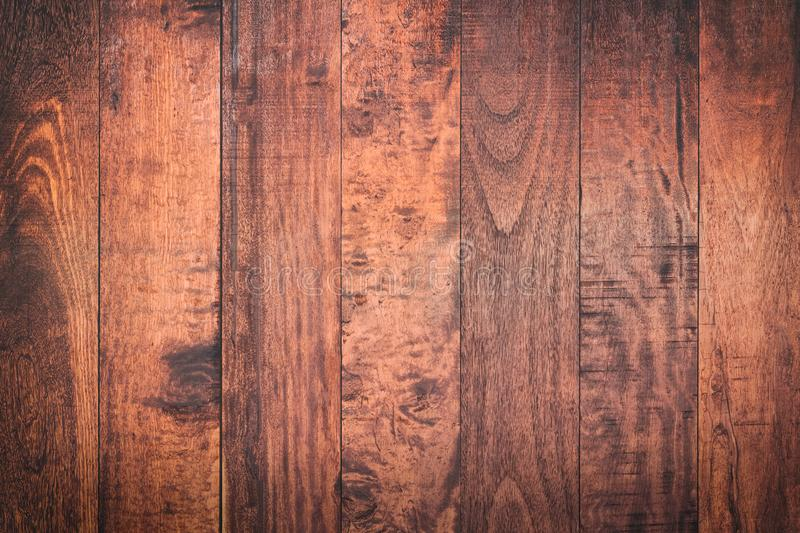 Abstract surface wood table texture background. Close up of dark. Rustic wall made of old wood table planks texture. Rustic brown wood table texture background stock images