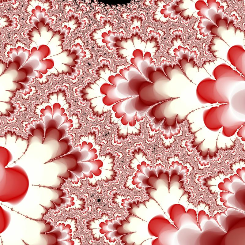 Abstract surreal background / fractal red stock illustration