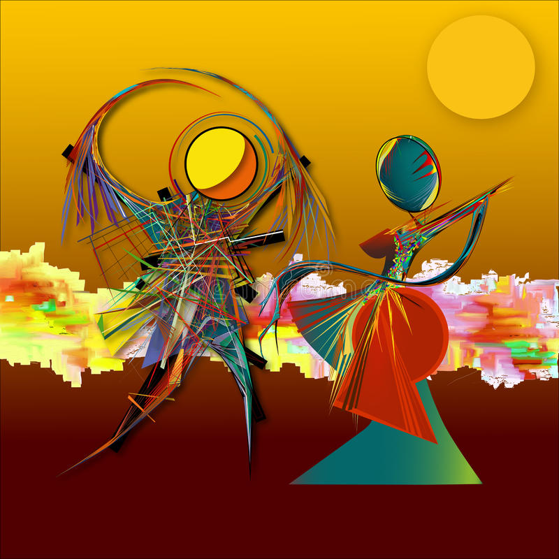 Download Abstract Surreal Illustration-dance Stock Illustration - Image: 83706406
