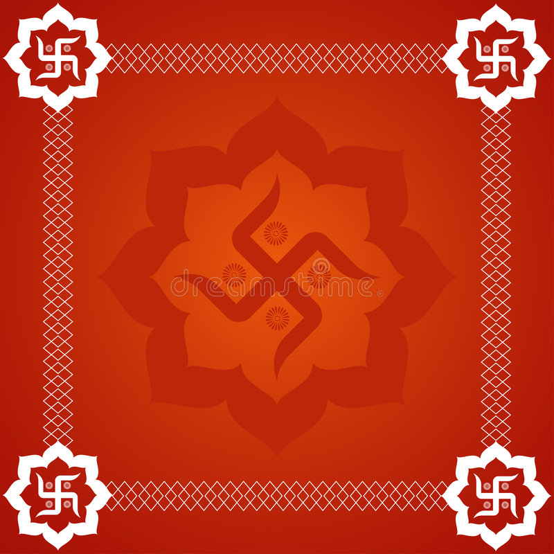 Abstract Swastika Background Stock Vector Illustration Of Indian