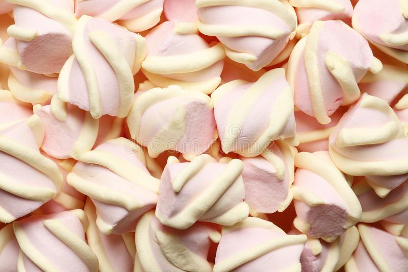 Abstract sweet composition of marshmallows royalty free stock image