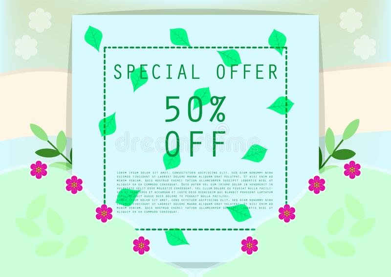 Sweet special offer discount banner royalty free stock photography