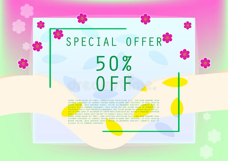 Sweet special offer discount banner royalty free stock image