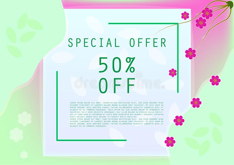Sweet special offer discount banner stock image
