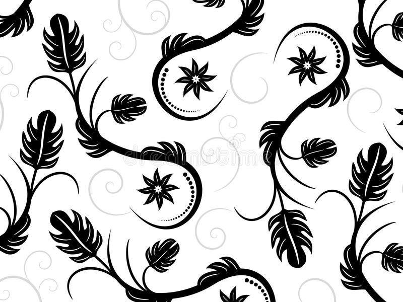 Abstract Swirl Background. An abstract black swirl on a white background vector illustration