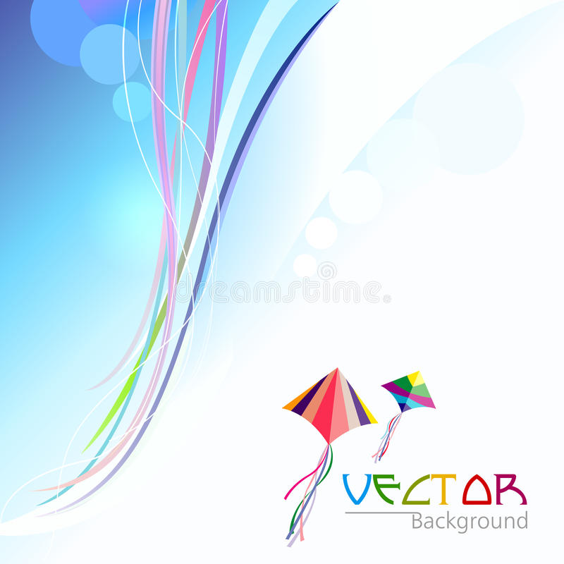 Download Abstract Swirl Background And Flying Kites Stock Vector - Image: 26363792