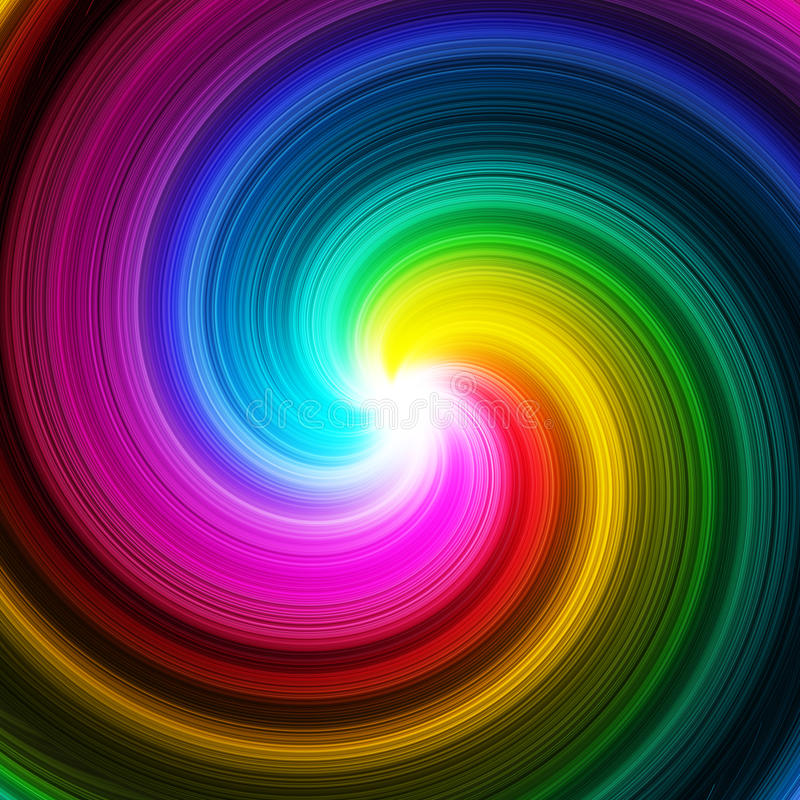 Abstract swirl prism colors background stock illustration