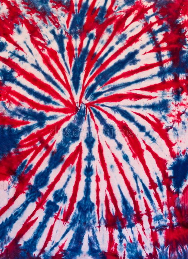 Colorful Abstract Tie Dye Pattern Design Blue and Red. Abstract Swirl Tie Dye Design for Background or Wallpaper in Blue, White, Red colors stock photography