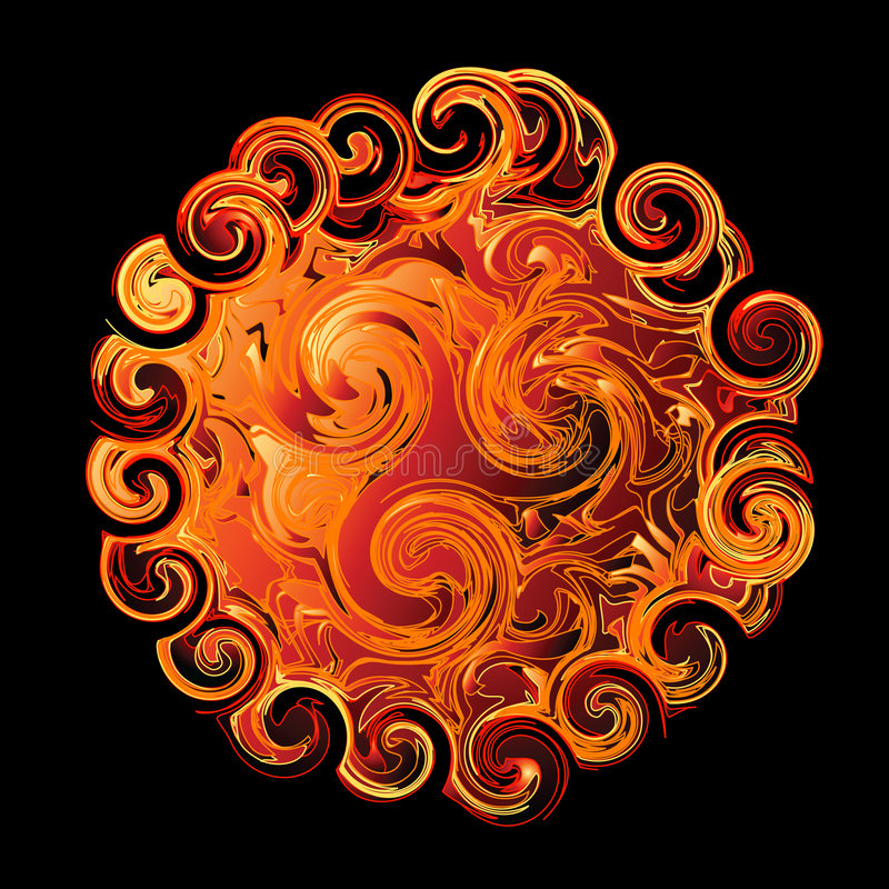Abstract swirling design stock illustration