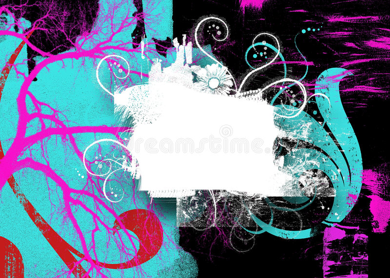 Abstract Swirly Background stock illustration
