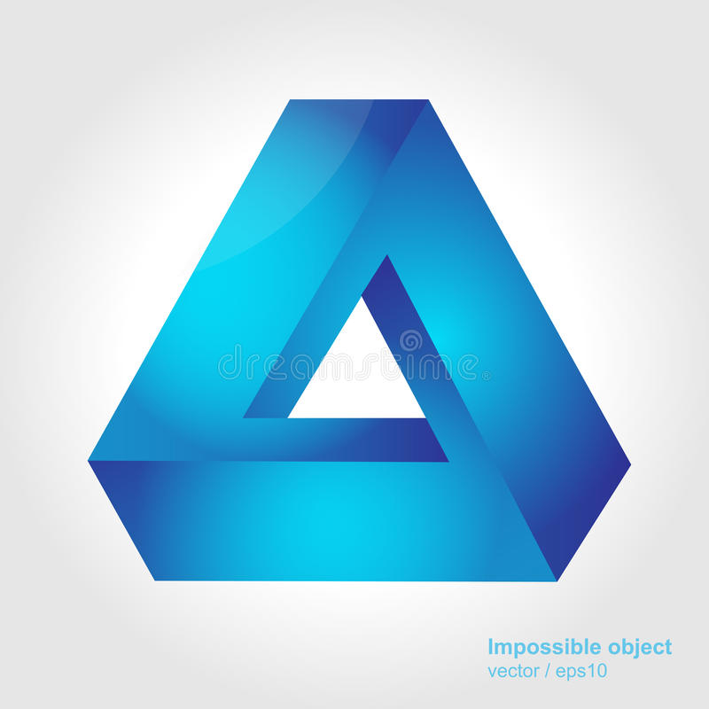 Download Abstract Symbol, Impossible Object, Triangle Stock Vector - Illustration of emblem, design: 30334952