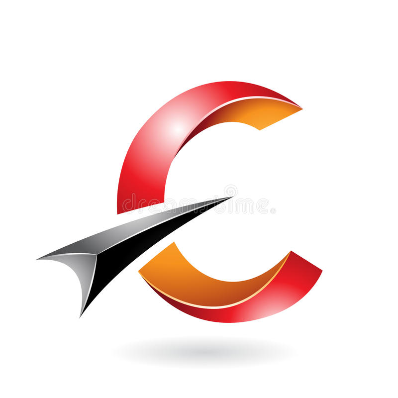 Abstract symbol of letter c libre illustration