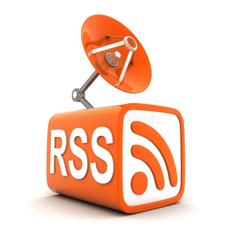 Abstract symbol RSS stock illustration