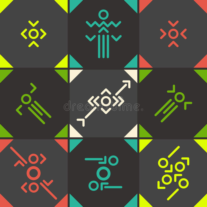 Abstract  Symbol Set Stock Vector