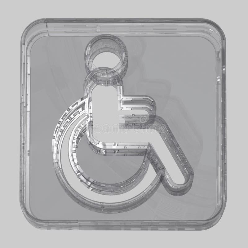 Abstract - Symbol - Wheelchair Royalty Free Stock Photos