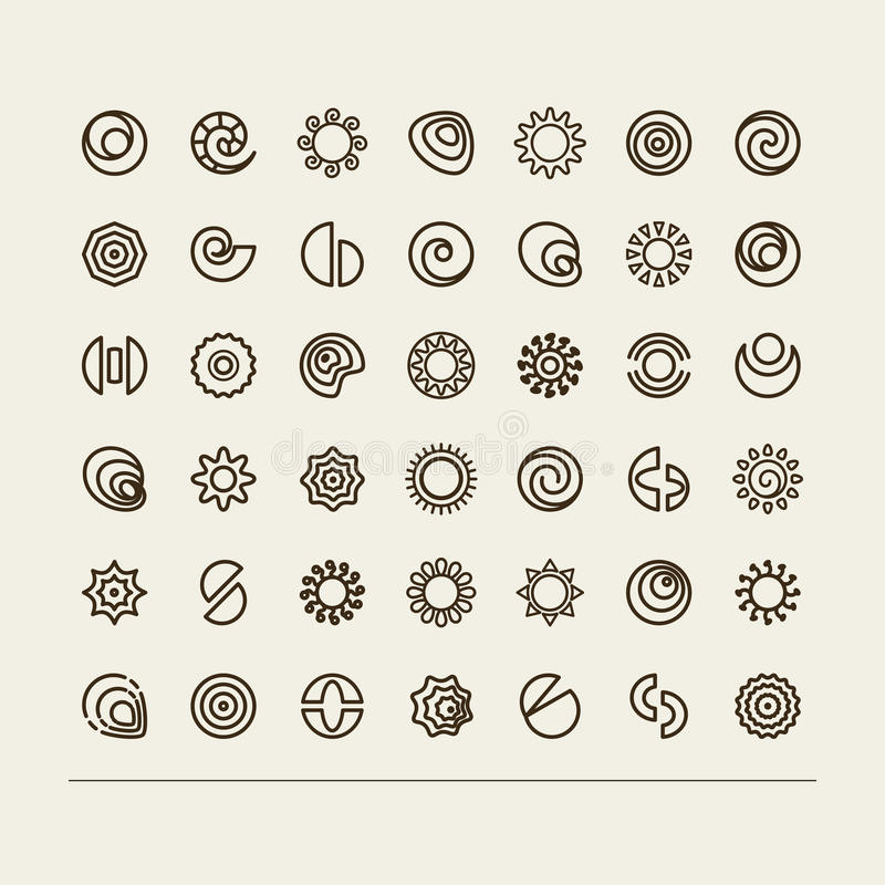 Abstract symbols. Set with icons - abstract symbols. A vector vector illustration