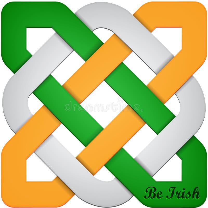 Abstract symbool voor St Patrick ` s dag vector illustratie