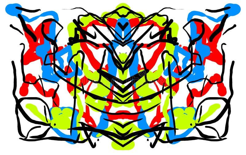 Abstract symmetric painting Rorschach test inkblot.  vector illustration