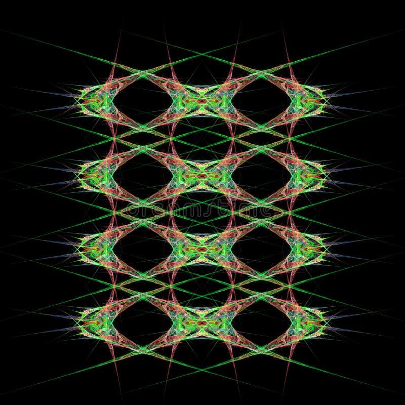 Abstract symmetrical fractal background stock illustration