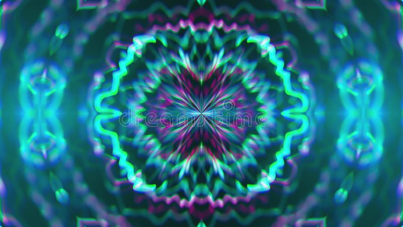 Abstract symmetry kaleidoscope like Mandala ornament, 3d rendering backdrop, computer generating. Background vector illustration