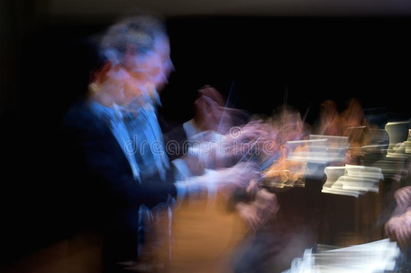 Abstract Concert conductor of symphony conductor royalty free stock image