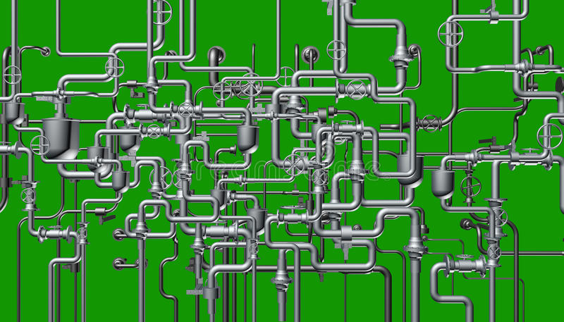The abstract system of the pipeline stock photos